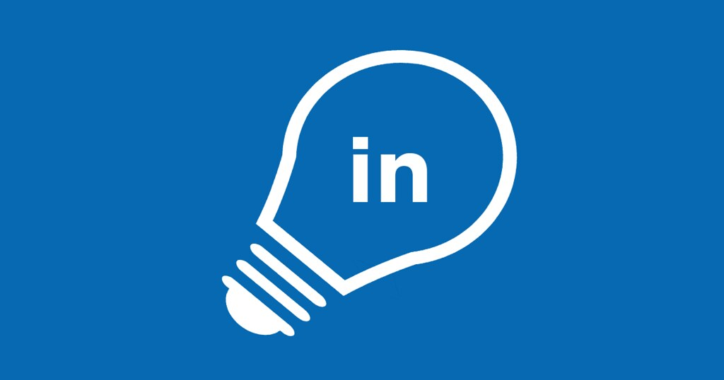 The LinkedIn logo in a lightbulb - LinkedIn for financial advisors is an amazing thing