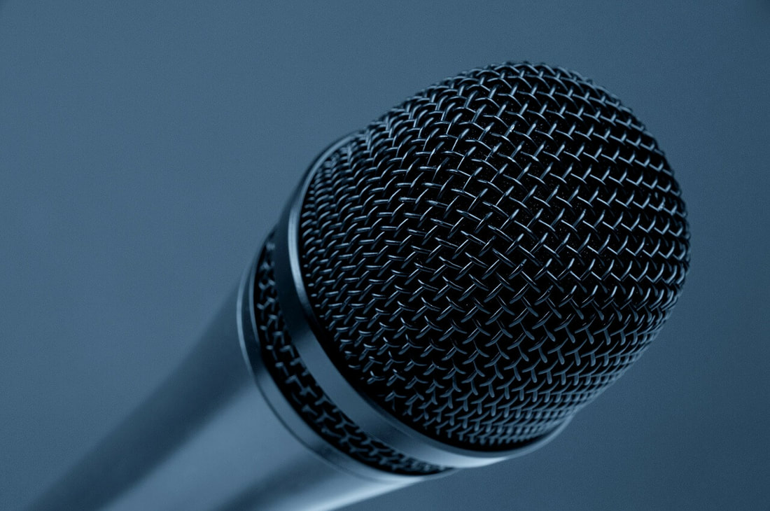 A microphone - because financial services content marketing is about developing a unique voice