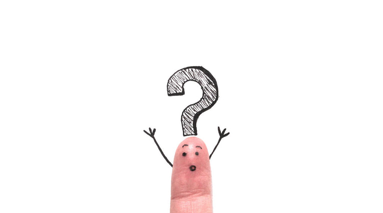 Finger with question mark - financial planning questions to ask clients
